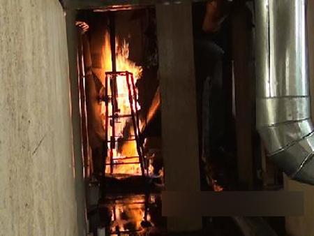 喷出的火焰